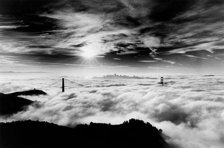 Black and white lovely beauty bridge peaceful clouds black and