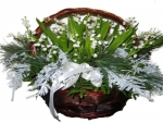 Basket Of Lilly Of The Valley Flowes