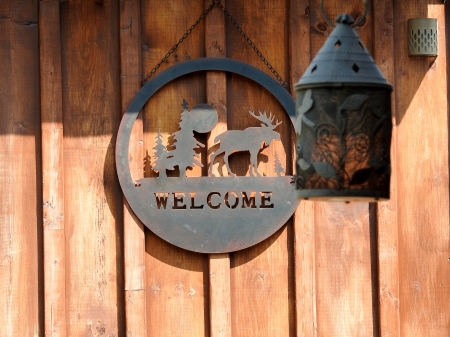 Welcome Sign - Summer, Abstract, Photography, Welcome Sign, Lantern, Wall