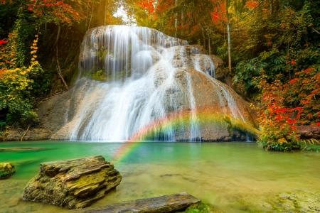 Waterfall With Rainbow Waterfalls Nature Background Wallpapers On Desktop Nexus Image 2400209