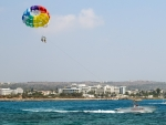 Parasailing in Cyprus