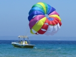 Parasailing in Greece
