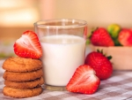 Strawberries Cookies And Milk