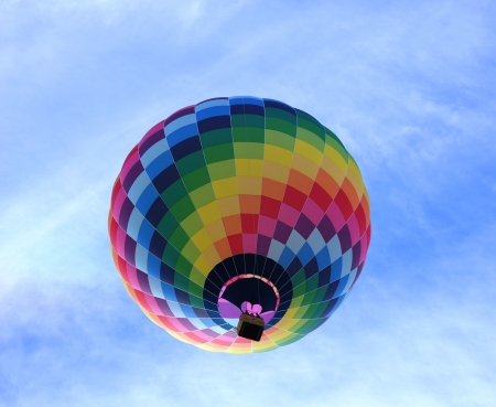 High up in a balloon - balloon, high-up, air, HD, color, floating, sky