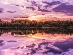 Purple Sky Reflected in the Lake