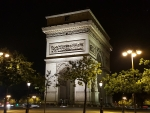 Arc De Triomphe, Paris, France @ Night