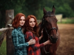 Redheads Rule The Ranch . .