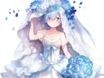 Bride In Blue