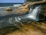 waterfall on the beach
