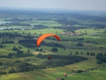 Paragliding over Fields