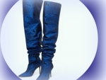 Electric Blue Over The Knee Boots