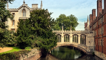 Bridge of Sighs - Cambridge, university, Saint John, bridge, river, UK, college, England