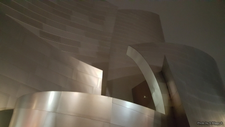 Walt Disney Concert Hall Closeup @ Night - Chrome, Los Ageles, Disney, Night, Hall, California, Walt, Concert, Reflection