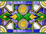 deco stained glass