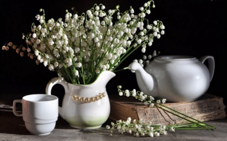 Lily Of The Valley - Flowers, Cup, White, Lily Of The Valley