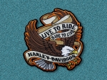 Harley Davidson Live to ride patch