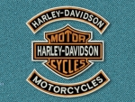 Harley Davidson Logo Rocker bars patches