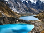 Lagoons in the Andes
