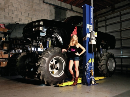 Monster Truck Girls And Cars Cars Background Wallpapers On Desktop Nexus Image 2404159