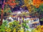 Early Autumn Waterfalls