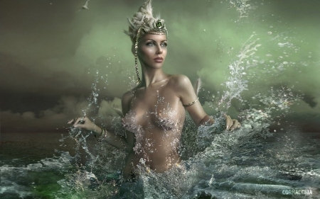 gorgeous sea nymph fantasy abstract background wallpapers on