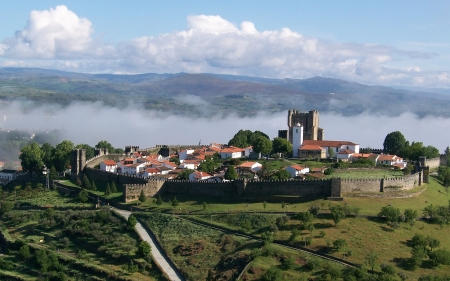 Rampart in Braganca, Portugal - Portugal, houses, fortress, rampart, landscape