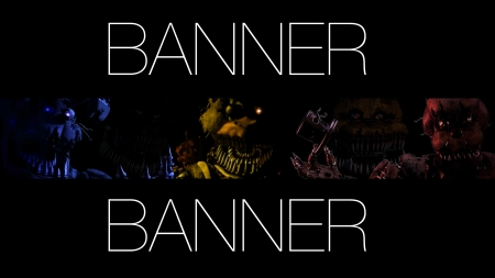 Banner Ps4 FNaF 4 - Other & Video Games Background Wallpapers on