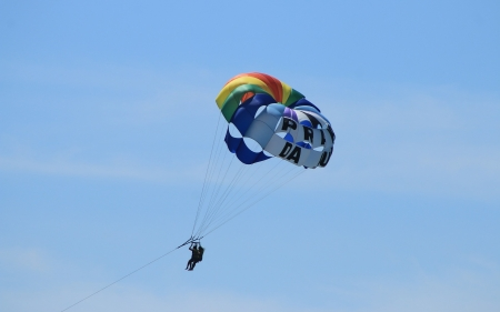 Parasailing in Portugal - sport, parachute, Portugal, parasailing, sky