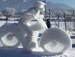 Snow Motorcycle Man