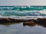 Waves on Beach in Cyprus