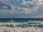 Waves and Clouds in Cyprus