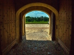 Gate in Bauska Castle, Latvia