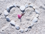 A heart on the Marble Beach