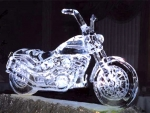 Motorcycle Made Of Ice