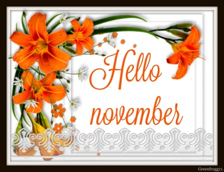 Hello November 3d And Cg Abstract Background Wallpapers