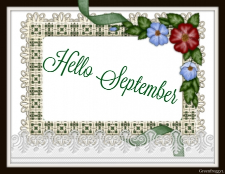 Hello September 3d And Cg Abstract Background Wallpapers