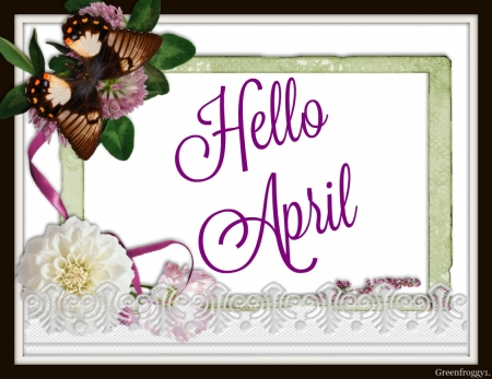 Hello April 3d And Cg Abstract Background Wallpapers On