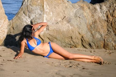 1b90c241 Bikini Model on Malibu Beach - Models Female & People Background ...