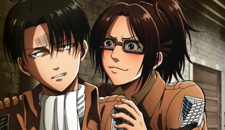 Attack on Titan - Attack on Titan, Levi, uniform, blush, Shingeki no Kyojin, angry, Hanji