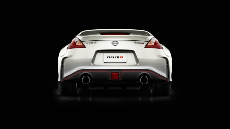 2018 Nissan Coupe 370Z Nismo - nismo, black background, nissan, vehicles, car, Nissan Coupe 370Z Nismo, rear view