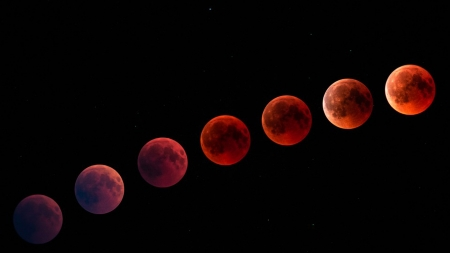 2018_Blood Moon - Firefox theme, sun, moon, space, blood moon