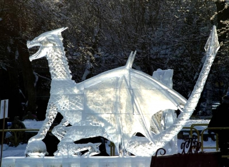 Dragon Ice Sculpture - Dragon, Steampunk, Ice, Sculpture