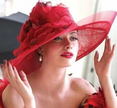red hat - red, models, photography, people, beauty, fashion