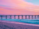 California Beach & Pier at Twilight