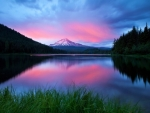 Amazing Mountain Lake Twilight