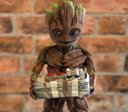 Baby Groot - Eyes, Baby, Awesome, Cake, Groot
