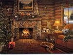 Log Cabin at Christmas