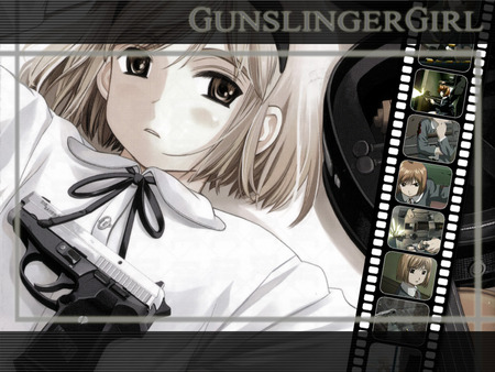 Gunslinger Girl - teatrino, violence, girl, anime, gunslinger girl, weapon