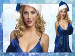 eva habermann - sexy blue santa I