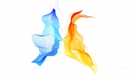 Color of Lovers - Firefox theme, paint, love, colors, man, abstract, woman, kiss